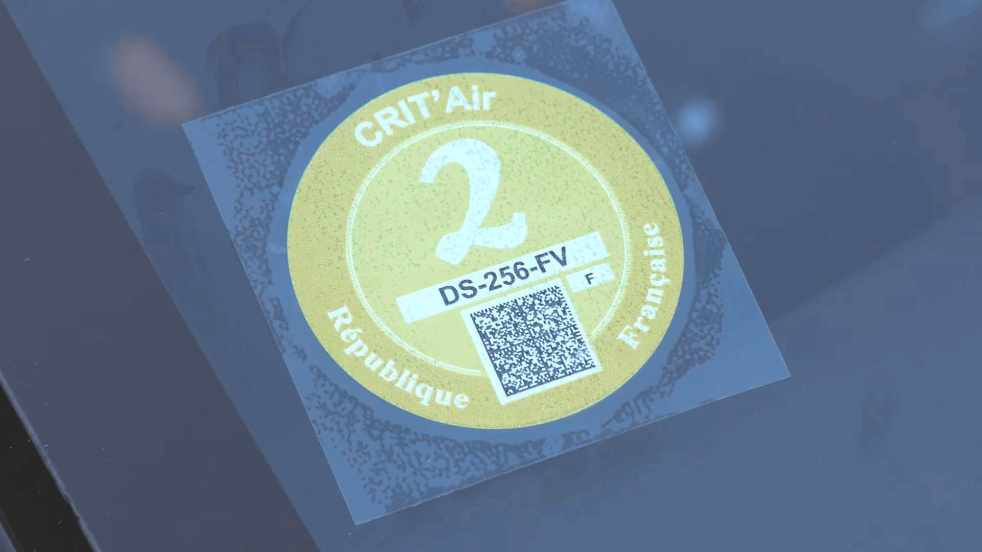 Certificat qualité de l'air vignette Crit'Air