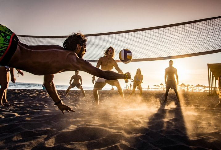 beach volley plage sport